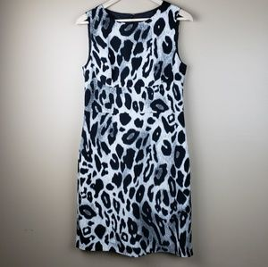 EUC Ann Taylor Leopard Print Sheath Dress, size 8
